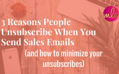 Episode #27: 3 Reasons People Unsubscribe When You Send Sales Emails (and how to minimize your unsubscribes)
