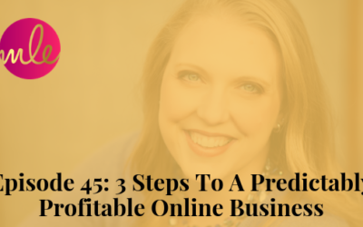 Episode 45: 3 Steps To A Predictably Profitable Online Business