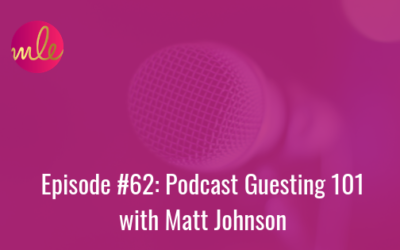 Episode 62: Podcast Guesting 101 with Matt Johnson